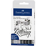 Набор капиллярных ручек Faber-Castell Pitt Artist Pen Lettering, 7шт, карандаш, точилка