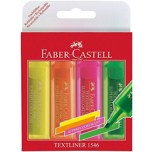 Набор текстовыделителей Faber-Castell 46 Superfluorescent, 4  цвета от Faber-Castell