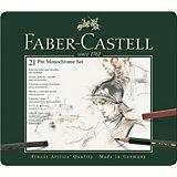 Набор художественных изделий Faber-Castell Pitt Monochrome, 21 предмет
