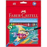 Карандаши акварельные Faber-Castell, 48 цветов + кисть