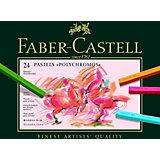 Пастель художественная Faber-Castell Polychromos, 24 цвета