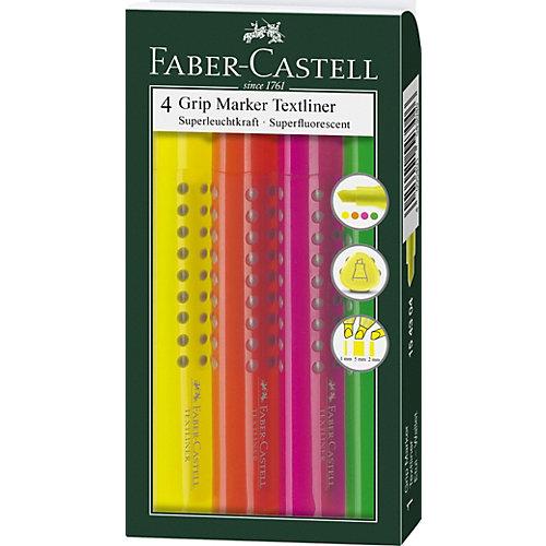 Набор текстовыделителей Faber-Castell Grip 1543, 4 цвета от Faber-Castell