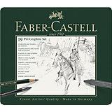 Набор карандашей чернографитных Faber-Castell Pitt Graphite, 19 предметов