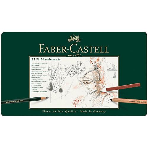 Набор художественных изделий Faber-Castell Pitt Monochrome, 33 предмета от Faber-Castell