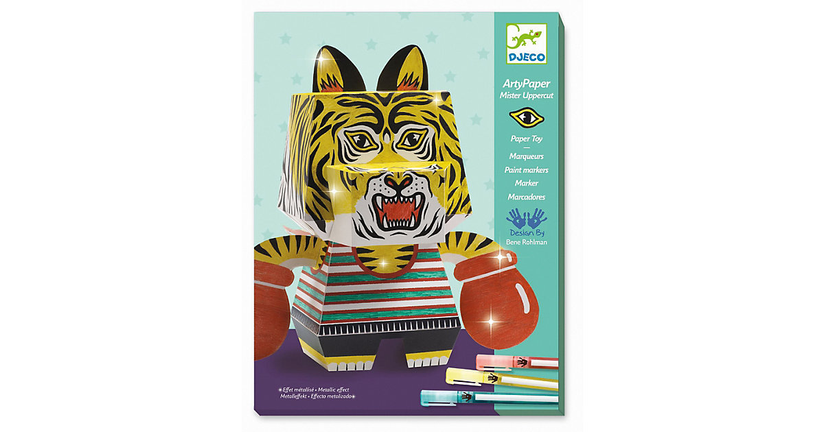 Arty paper - Boxender Tiger mehrfarbig