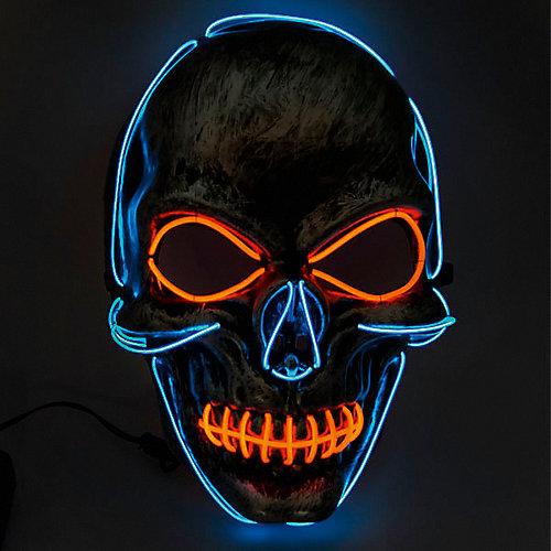 Маска Патибум, Череп: blue-red, c подсветкой от Патибум