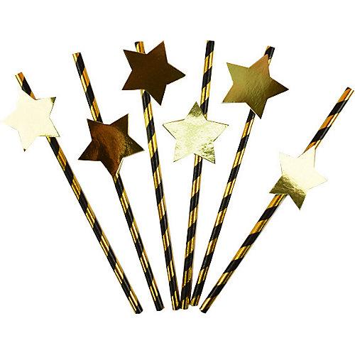 Комплект трубочек для напитков Патибум, с золотой звездой от Патибум