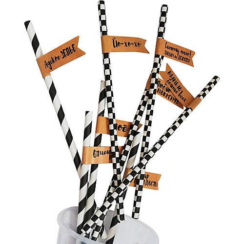Комплект трубочек для напитков Патибум, Вечеринка, с флажком от Патибум
