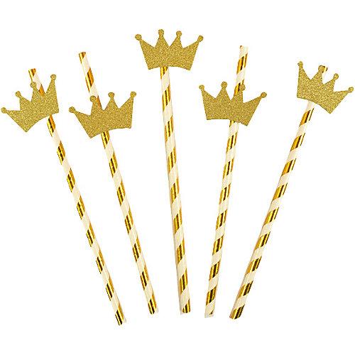 Комплект трубочек для напитков Патибум, с золотой короной от Патибум