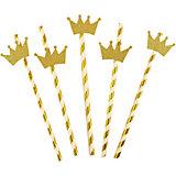 Комплект трубочек для напитков Патибум, с золотой короной