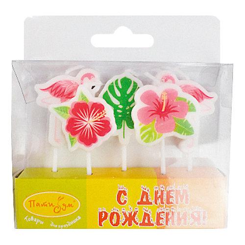 Комплект свечей для торта Патибум, Фламинго от Патибум