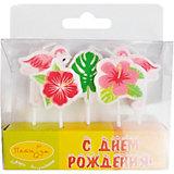 Комплект свечей для торта Патибум, Фламинго