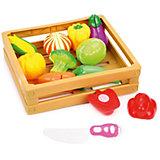 """Набор продуктов для резки Наша Игрушка """"Овощи в коробочке"""", 21 предмет"""