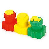 Пальчиковые краски Color Puppy со штампиками, 3 цвета