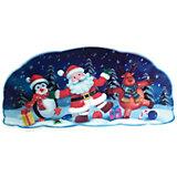 Наклейка Волшебная страна, Санта и пингвин, новогодняя