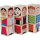 """Кубики Краснокамская игрушка """"Народы мира"""""""