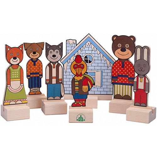 """Набор для кукольного театра Краснокамская игрушка """"Персонажи сказки Заюшкина избушка"""" от Краснокамская игрушка"""