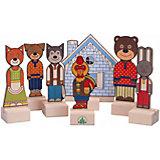 """Набор для кукольного театра Краснокамская игрушка """"Персонажи сказки Заюшкина избушка"""""""