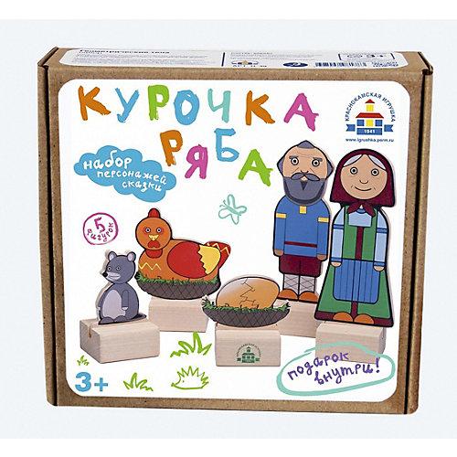"""Набор для кукольного театра Краснокамская игрушка """"Персонажи сказки Курочка ряба"""" от Краснокамская игрушка"""
