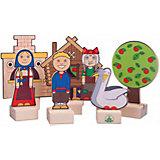 """Набор для кукольного театра Краснокамская игрушка """"Персонажи сказки Гуси-лебеди"""""""