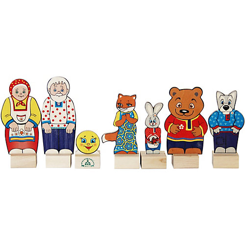 """Набор для кукольного театра Краснокамская игрушка """"Персонажи сказки Колобок"""" от Краснокамская игрушка"""