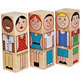"""Кубики Краснокамская игрушка """"Смешные человечки"""""""