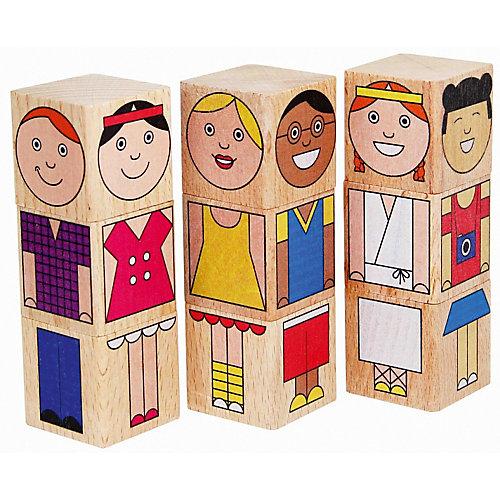 """Кубики Краснокамская игрушка """"Смешные человечки"""" от Краснокамская игрушка"""