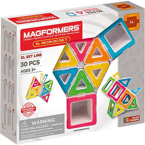 Магнитный конструктор Magformers XL Neon 30 set от MAGFORMERS