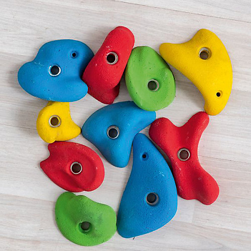 Зацепы скалодромные Kett-UP, цветные,  10шт - разноцветный