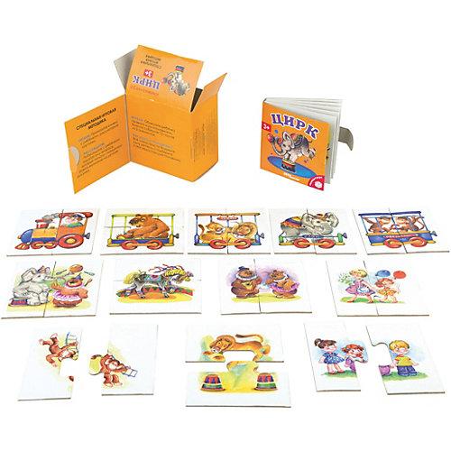 """Развивающий набор Step Puzzle """"Книжка + игра"""" Цирк от Степ Пазл"""