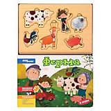 """Книжка-игрушка Step Puzzle """"Волшебные странички"""" Ферма"""