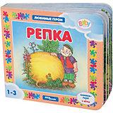 "Книжка-игрушка Step Puzzle Baby Step ""Любимые герои"" Репка"