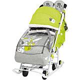 Санки-коляска Ника детям Disney Baby 2 101 Далматинец, лимонный