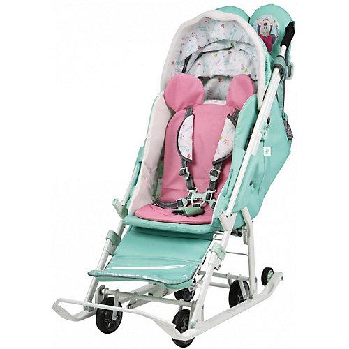 Санки-коляска Ника детям Disney Baby 2 101 Далматинец, лимонный от Nika-Kids
