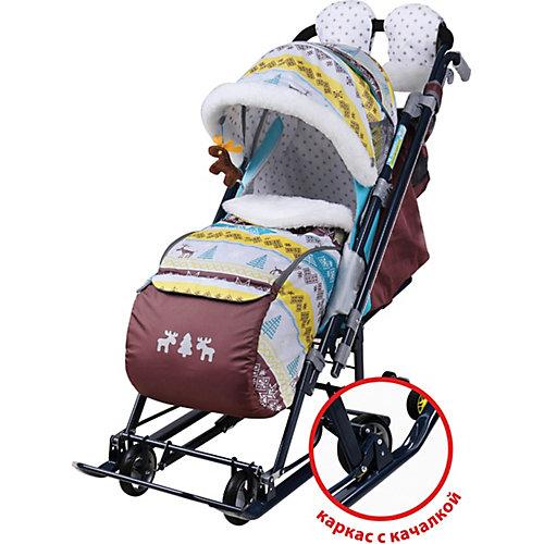 Санки-коляска Ника детям 7-7, скандинавский бирюзовый от Nika-Kids