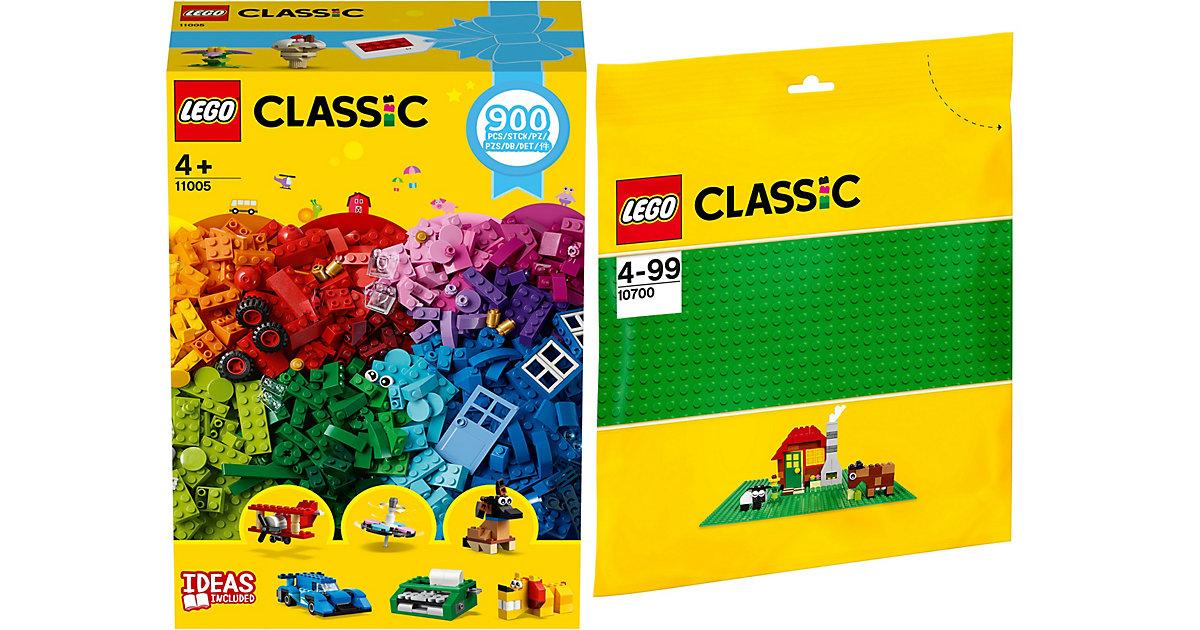 Bundle LEGO Classic: 11005 Bausteine - Kreativer Spielspaß + 10700 Grüne Grundplatte