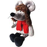 Мягкая игрушка Softoy Мышь в ушанке 26 см