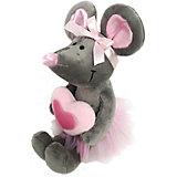 Мягкая игрушка Softoy Мышь с сердечком 26 см