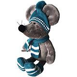 Мягкая игрушка Softoy Мышь в шарфе 26 см