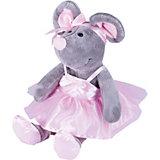 Мягкая игрушка Softoy Мышь с бантиком 26 см