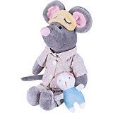 Мягкая игрушка Softoy Мышь в пижаме 26 см