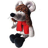 Мягкая игрушка Softoy Мышь в ушанке 36  см