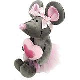 Мягкая игрушка Softoy Мышь с сердечком 36 см