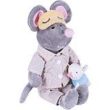 Мягкая игрушка Softoy Мышь в пижаме 36 см