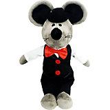 Мягкая игрушка Softoy Мышь в бабочке 36 см