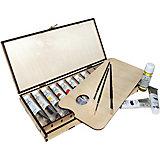 Набор для живописи Малевичъ с масляной краской, 10 цветов по 40 мл