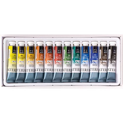 Набор акварельных красок Малевичъ WaterFall, 12 цветов по 12 мл от Малевичъ
