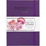 Скетчбук Малевичъ Bristol Touch для графики и маркеров, фиолетовый