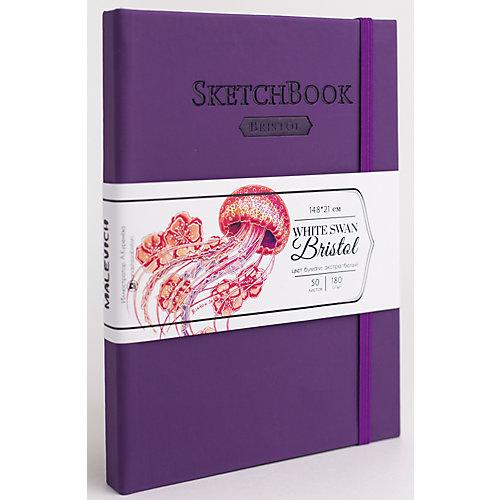 Скетчбук Малевичъ Bristol Touch для графики и маркеров, фиолетовый от Малевичъ