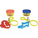 """Игровой набор Play-Doh """"Баночка и штамп"""" Брелок дракон и акула"""